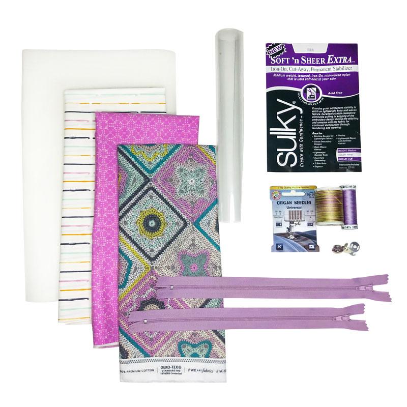 purple/heather organizer kit