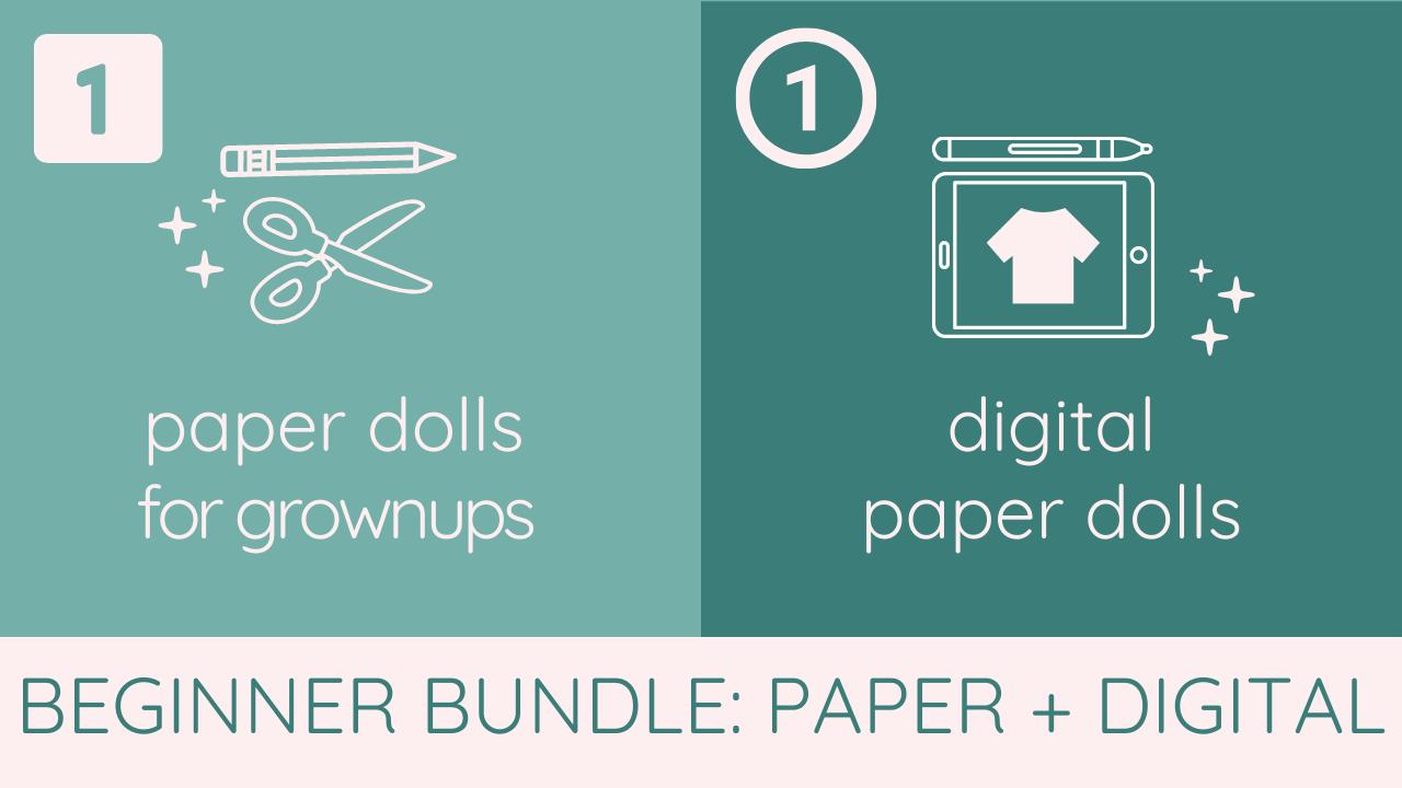 Tlw5ml3jqi2x5m0eplqp mybodymodel beginner bundle   paper dolls 1 and digital paper dolls 1