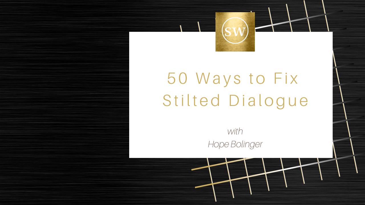 Komitjmqt7oitq7sirxs bolinger 50 ways to fix stilted dialogue