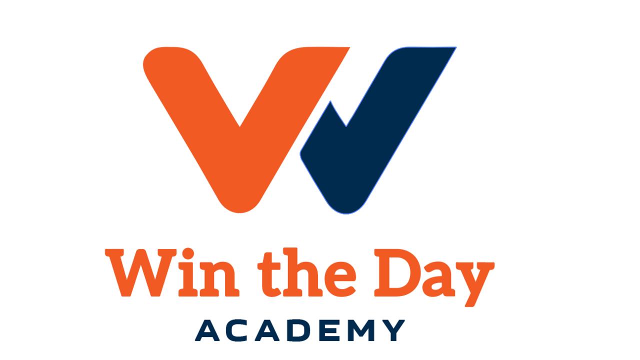 Jfkecrsktwyumgdoyohh win the day academy logo