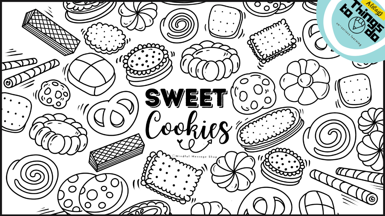 Bqxpw3ysswkevt6imepc sweet cookies coloring poster