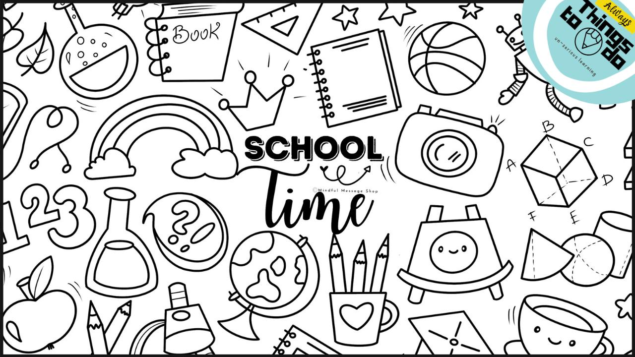 Tvp1ugvlqhwwcwdf4eef school time coloring poster