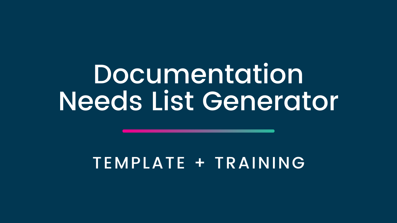 I7vi5gcxqve5n4x35kae documentation needs list generator
