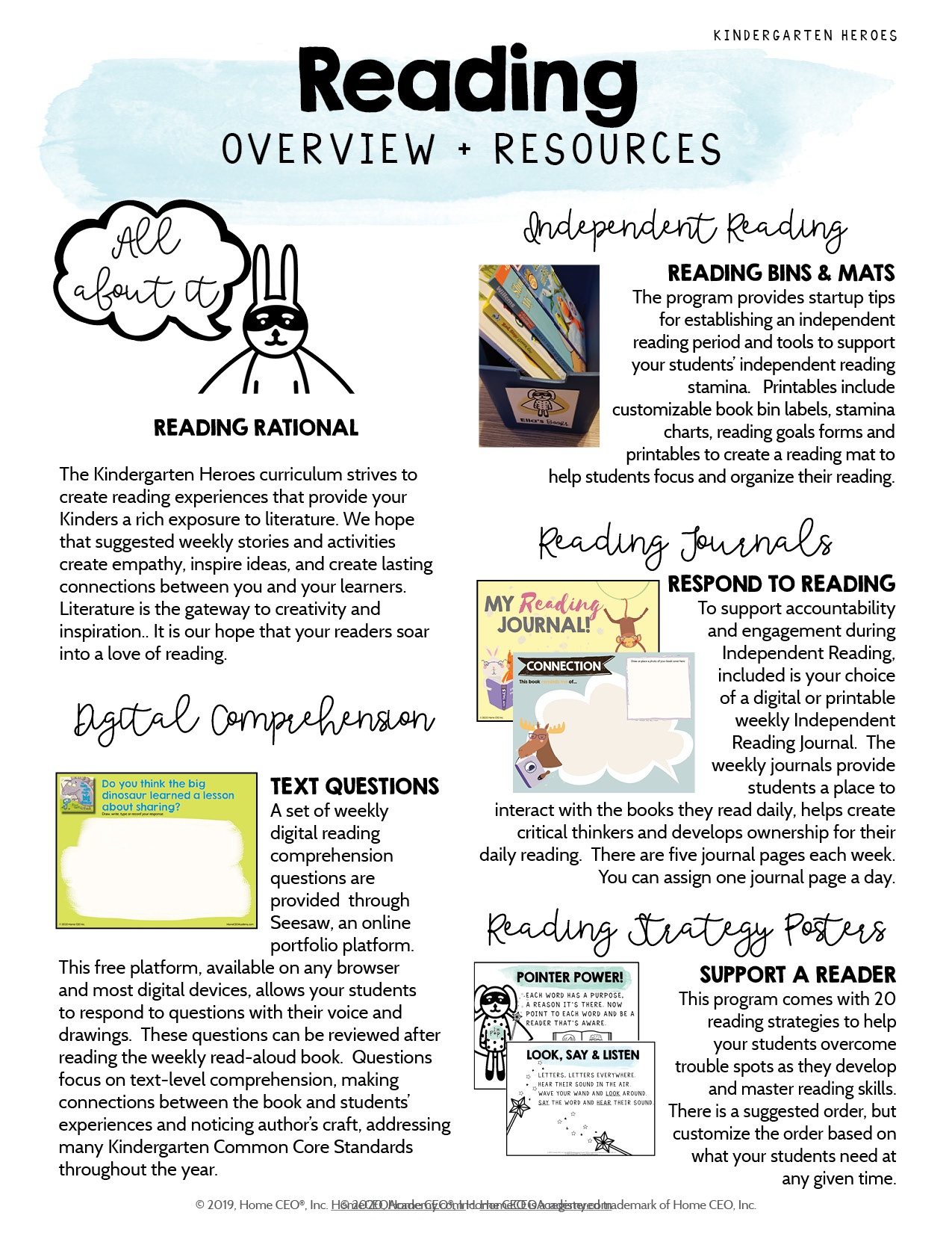 Kindergarten Heroes Curriculum Reading Overview