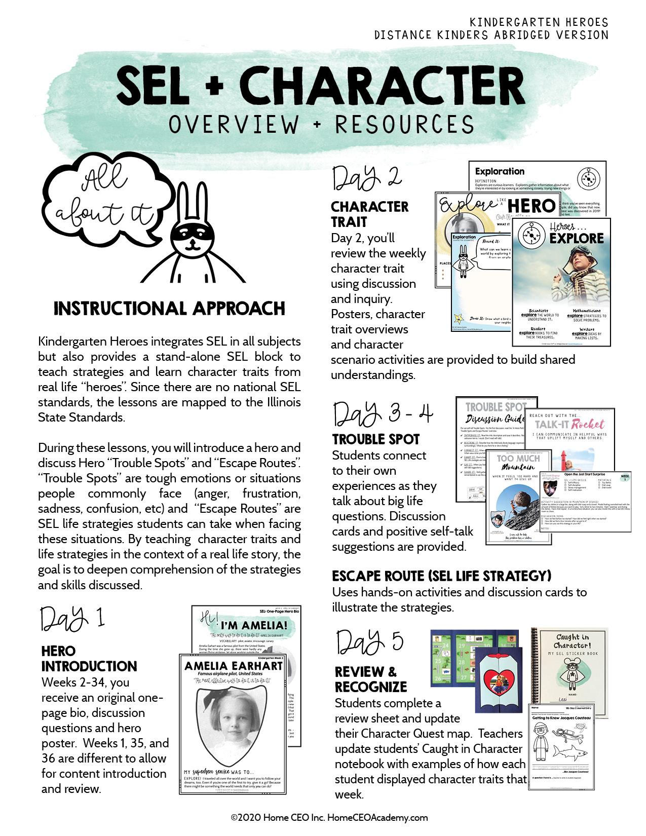 Kindergarten Heroes Curriculum SEL Overview
