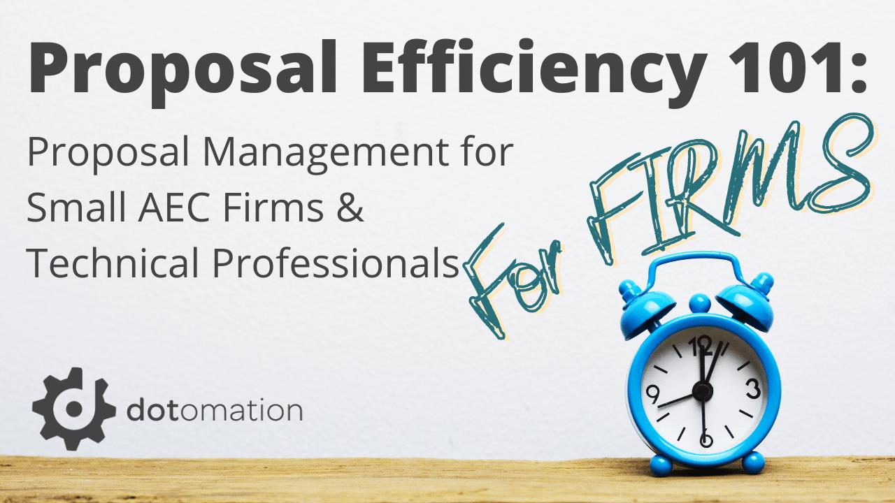 Cbzzfohrr0ue0hmd5z1w proposal efficiency 101 for firms 1