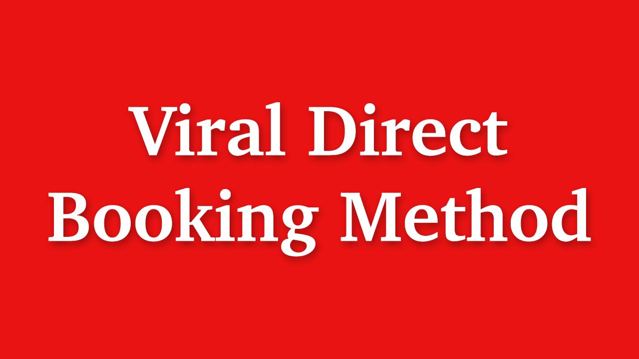 Eudldwn3riepctdmrwiu viral direct booking method