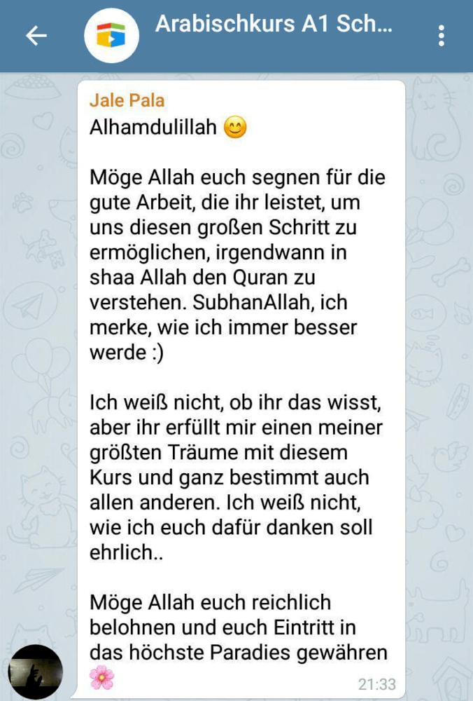 Arabisch lernen Telegram