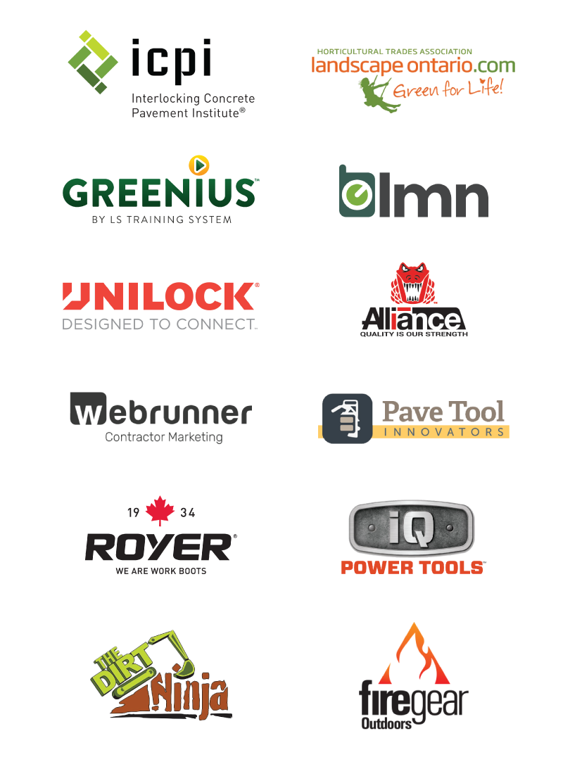 Logos of OUR LANDSCAPE & HARDSCAPE BUSINESS PARTNERS