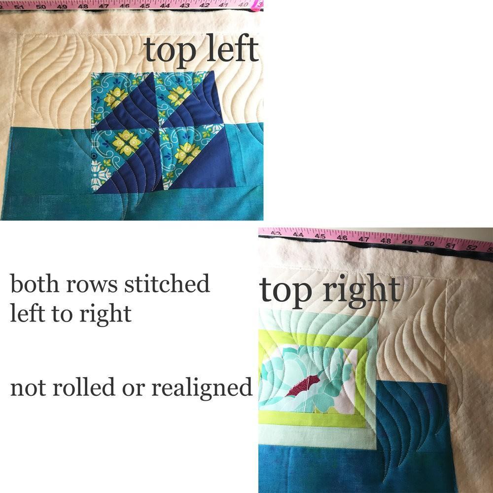 longarm quilting alignment problem