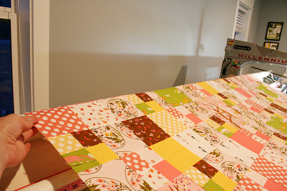 loading a quilt top adjust the sides