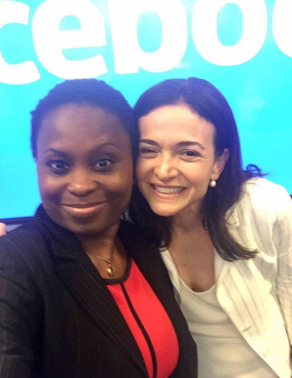 Lola Omolola with Sheryl Sandberg Facebook COO