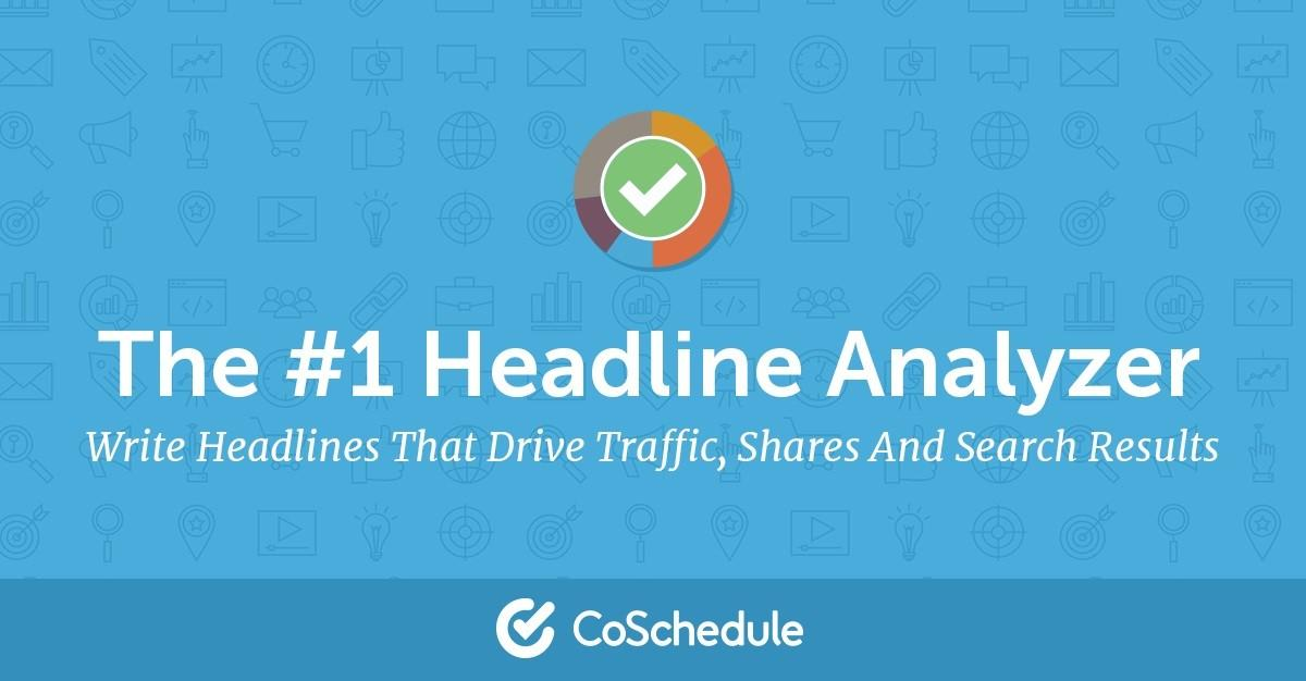 analyse your headlines and drive more traffic with headline analyser