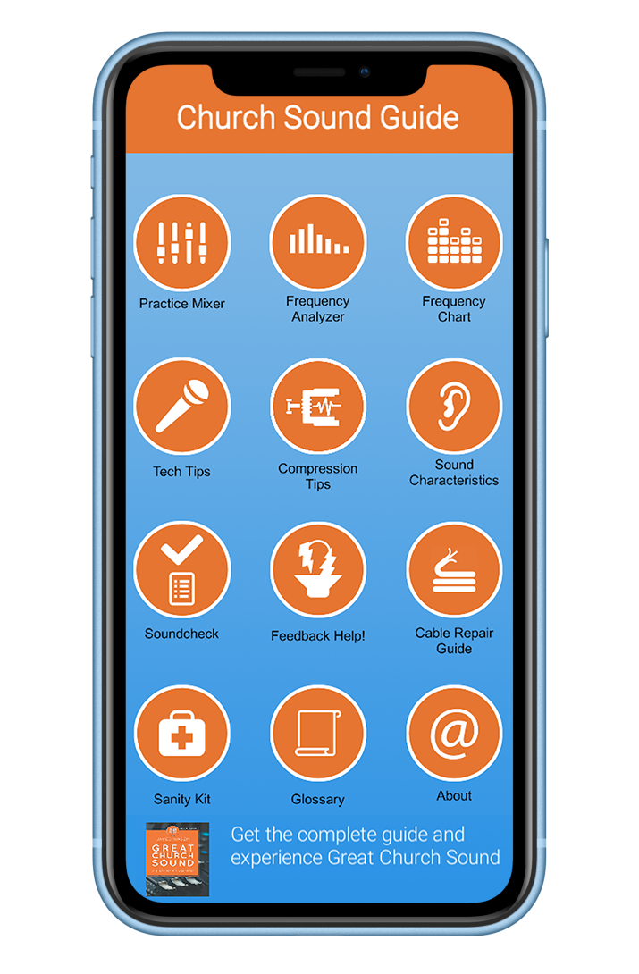 Great Church Sound Guide Mobile App