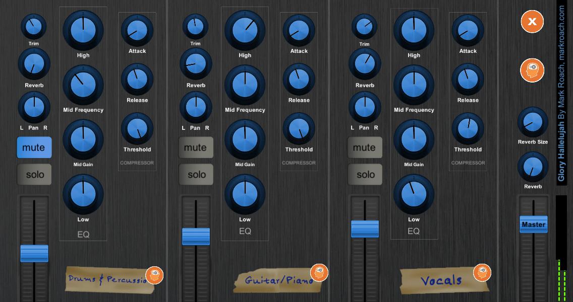 Great Church Sound Guide App - mixer screen