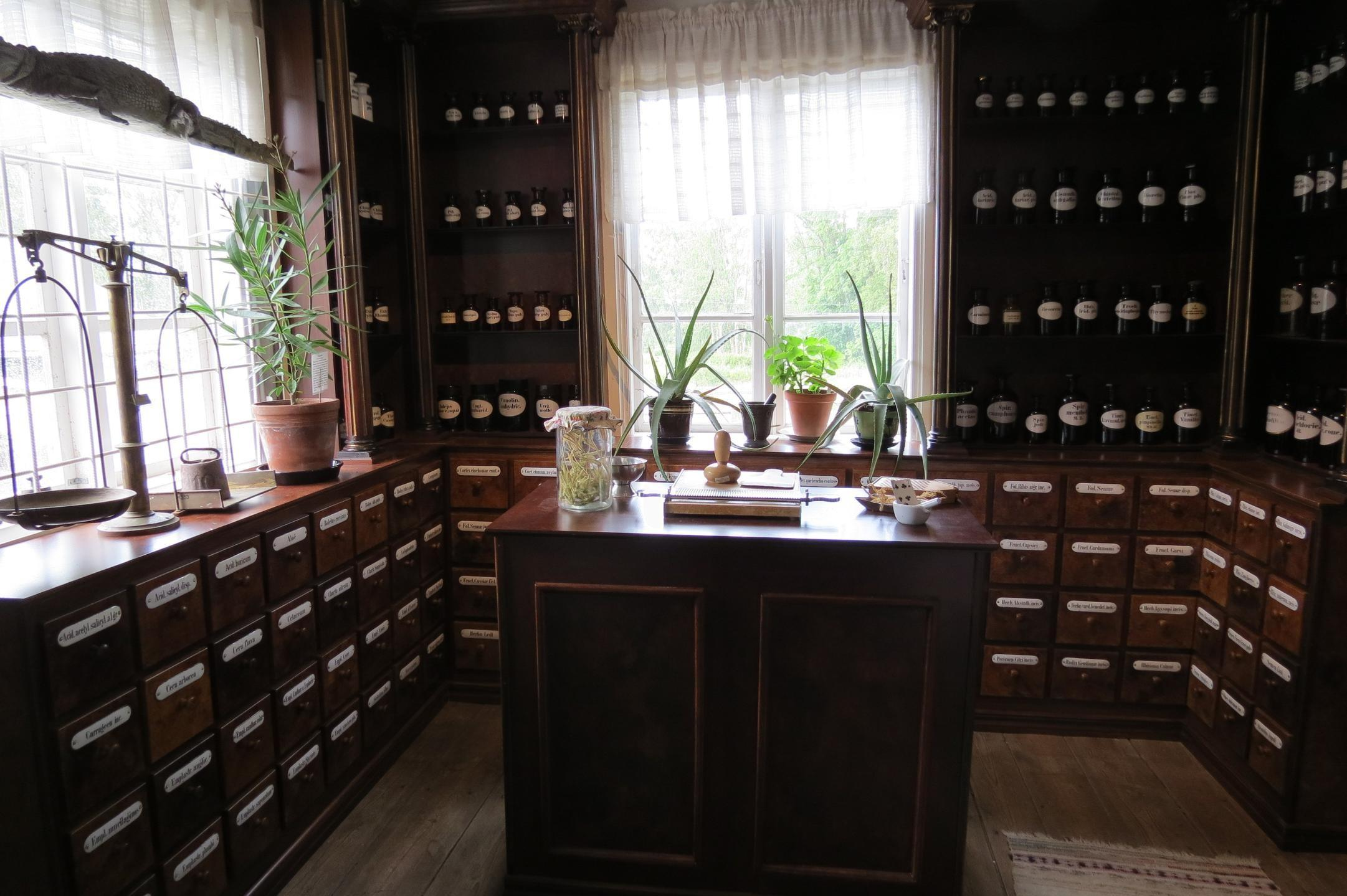 Old Apothecary in Dals-Rostock, Sweden.