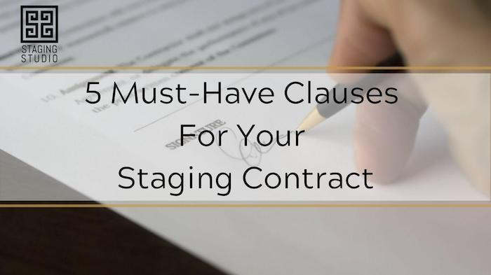 5 clauses for staging contract