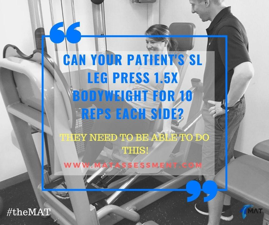 Leg Press Strength testing