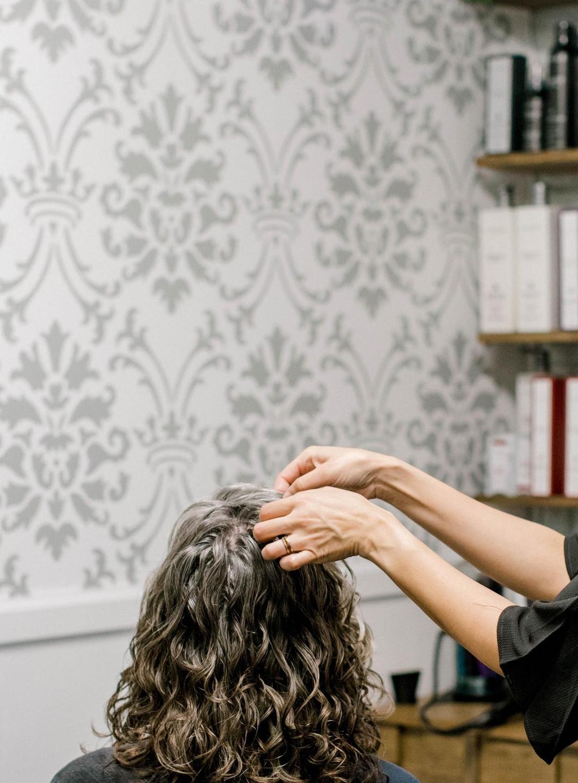 Cutting curly hair