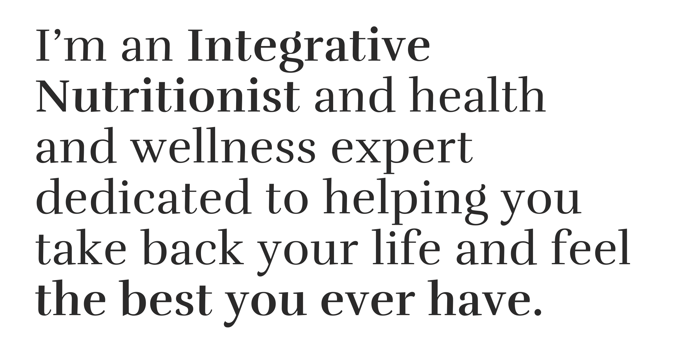 Kristen Blake is health and wellness expert who takes an integrative approach to your health.