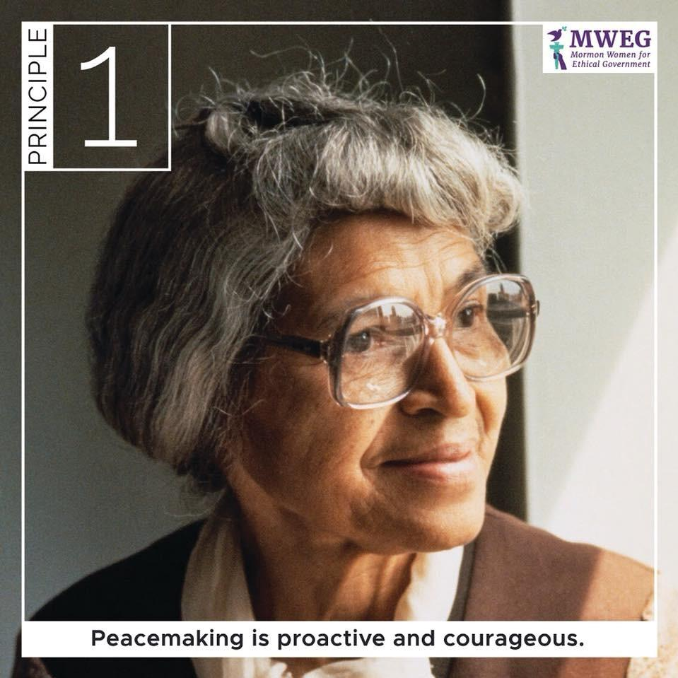 Peacemaking is proactive and courageous