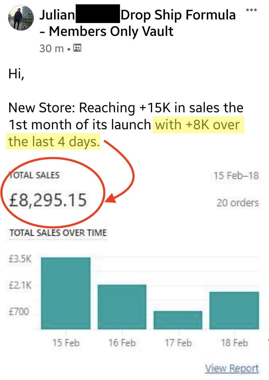 Julian 8K Sale Drop Ship Formula Review