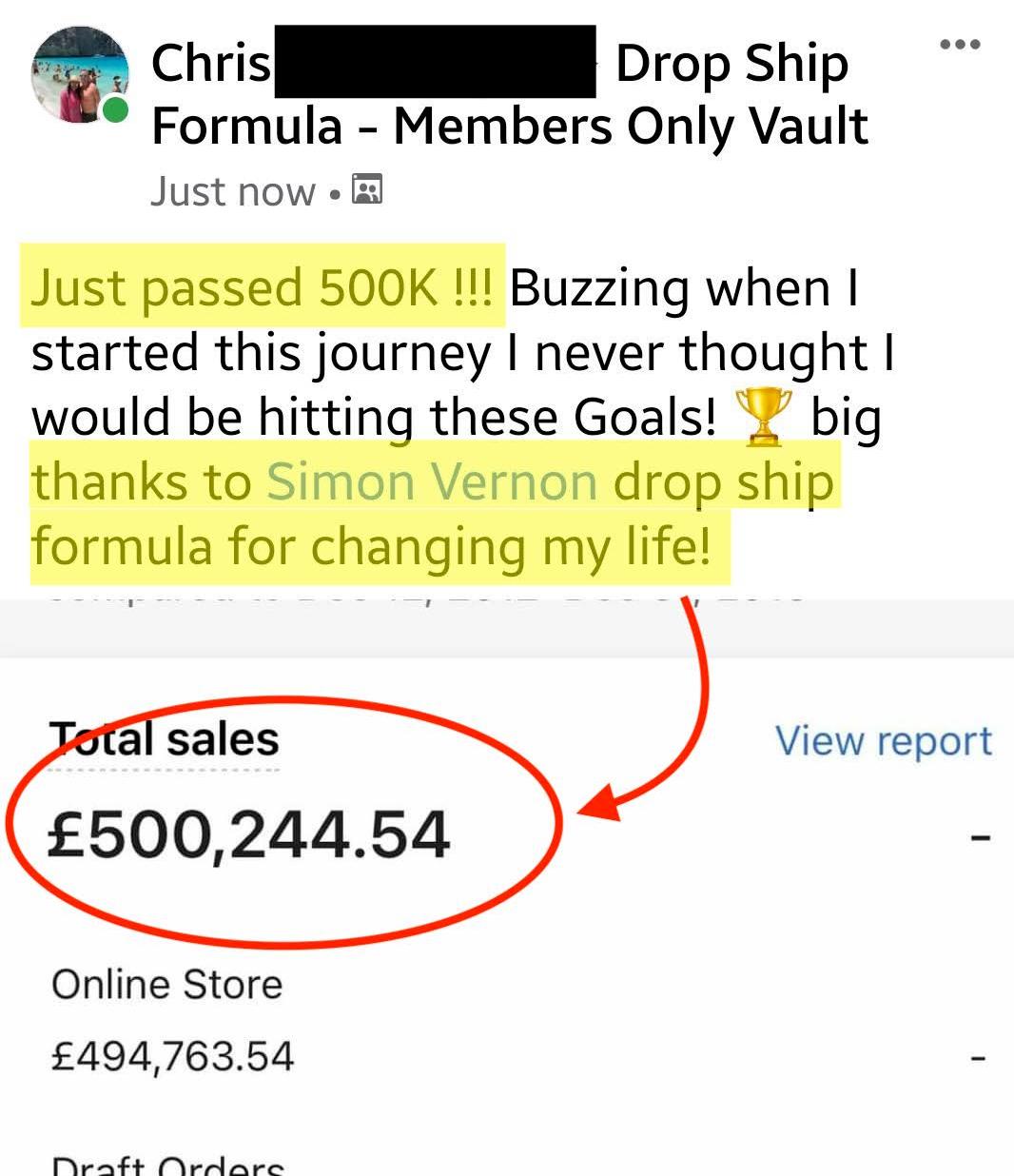 Drop Ship Formula Review - Sales3