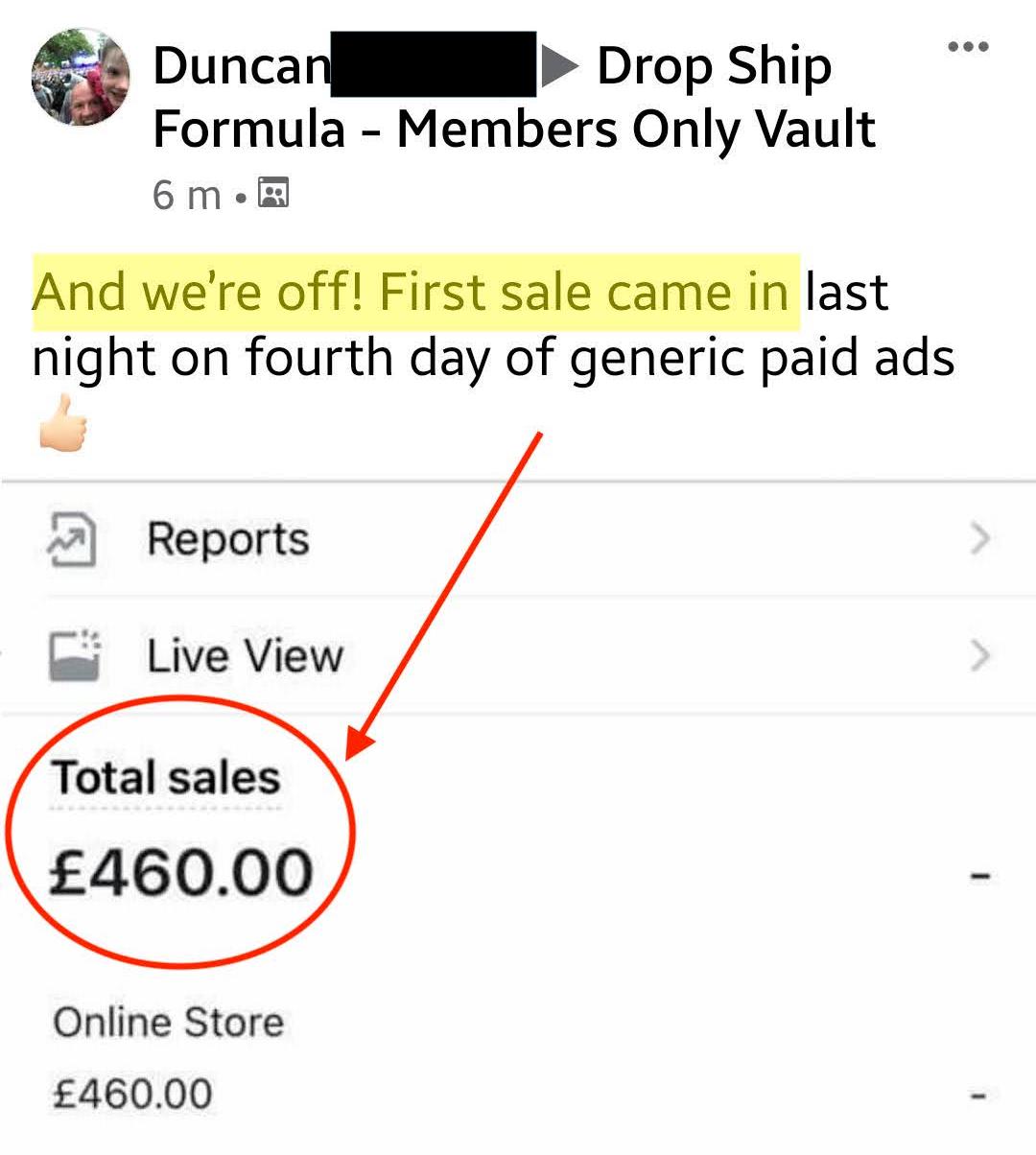 Drop Ship Formula Review - Duncan Sales2