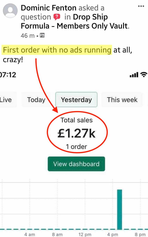Dominic First Sale Drop Ship Formula