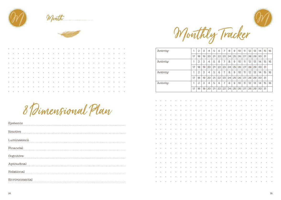 Monthly page spread from The Lifestyle Design Planner by Stacy Fisher
