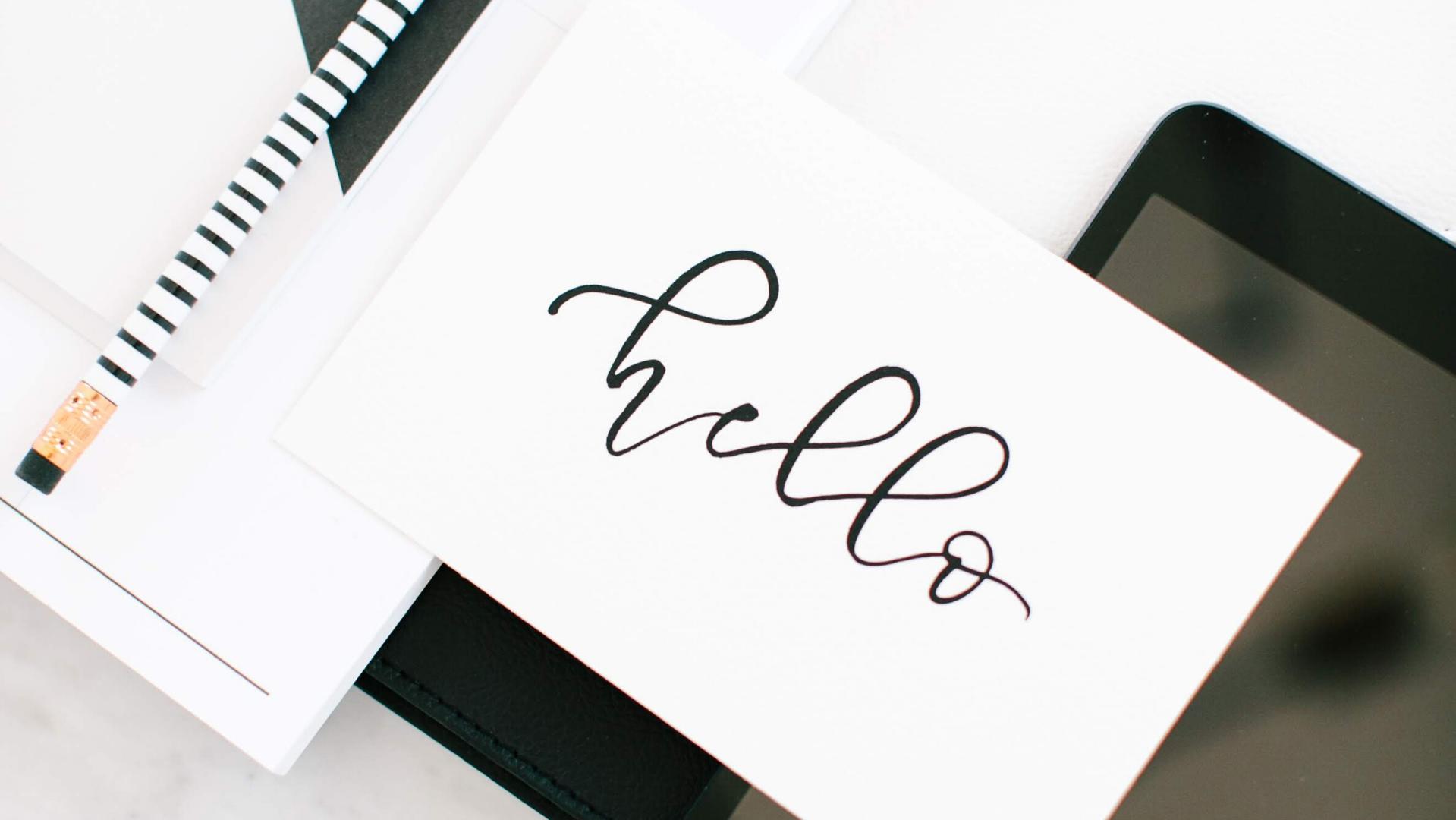 pencil, card and ipad