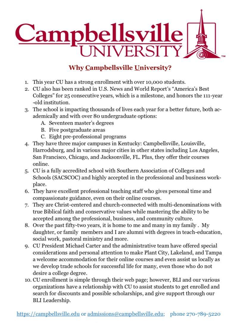 Why Campbellsville University?