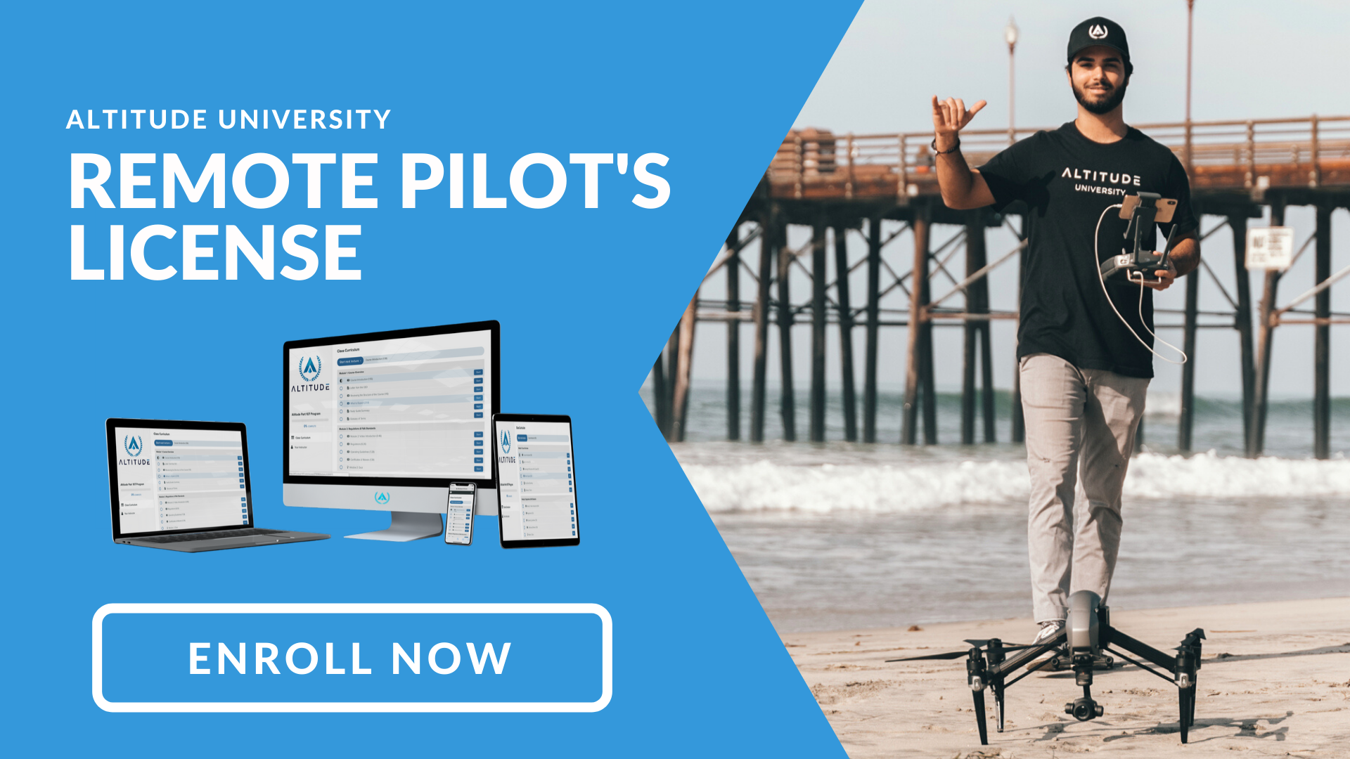Enroll Button for Remote Pilot Training