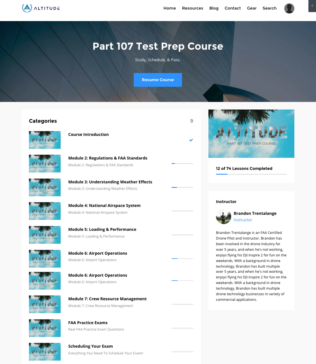 Inside Preview of Altitude University Online Part 107 Test Prep Course
