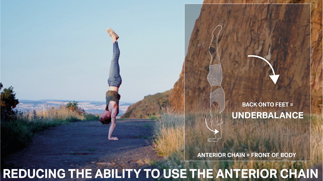 Handstand toolkit section 7 two arm finess - tuck handstand - head looking at toes