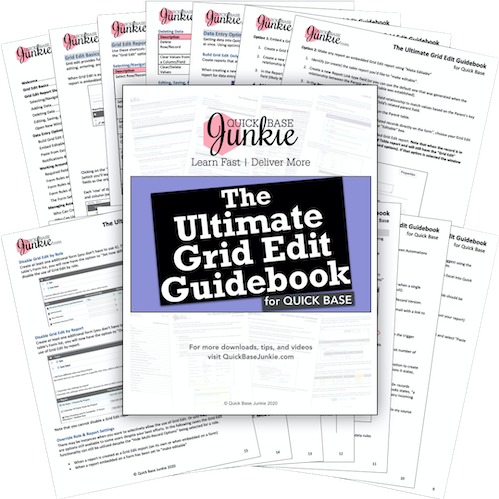 The Ultimate Grid Edit Guidebook for Quick Base