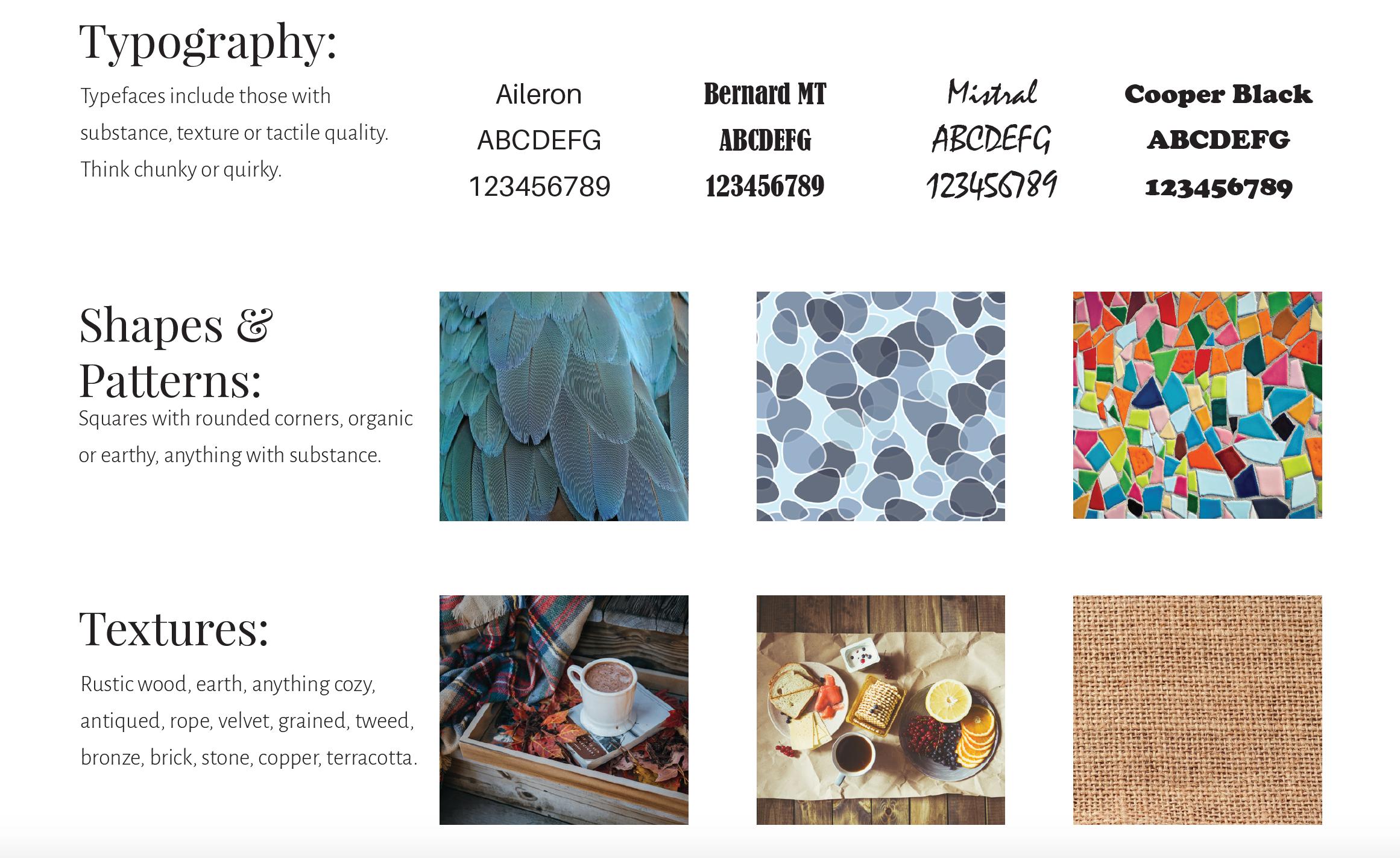 Color psychology Autumn design elements