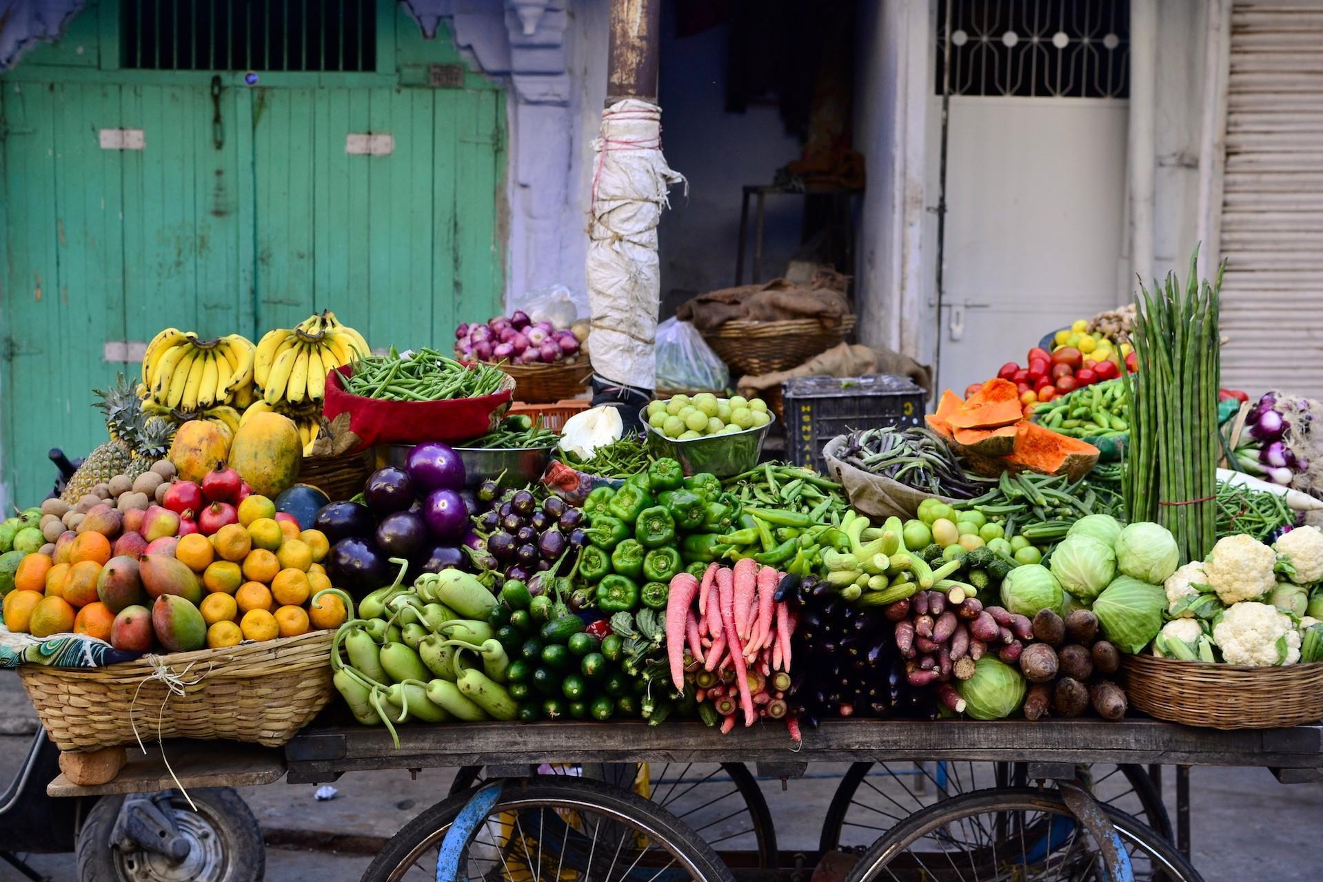 Indian vegetable cart