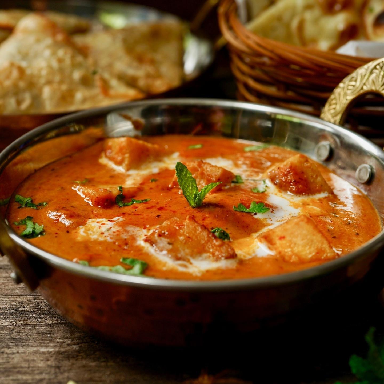 Vegan Indian curry dish