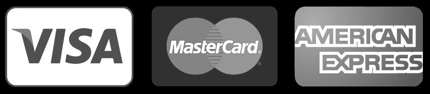 We accept Visa, Mastercard and Amex