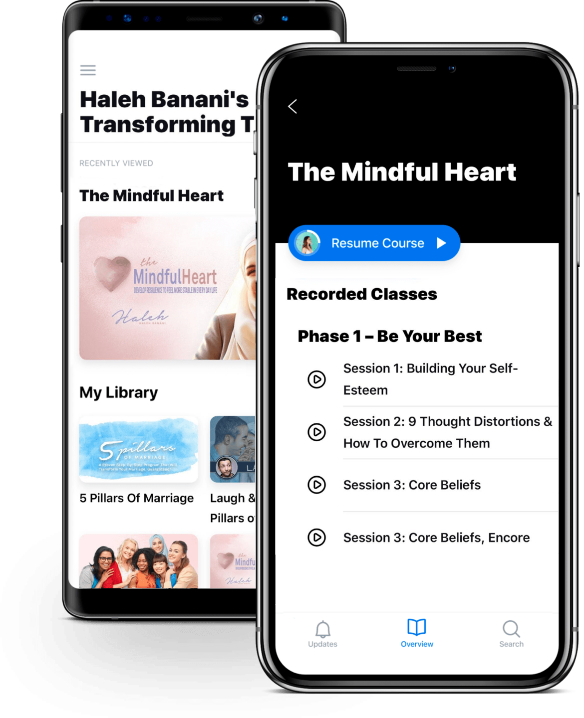 Haleh Banani's Courses IOS and Android App