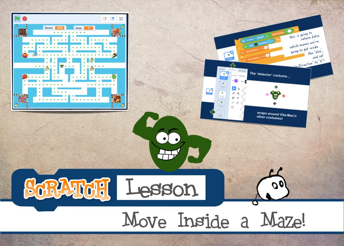 Scratch Lesson Move Inside a Maze