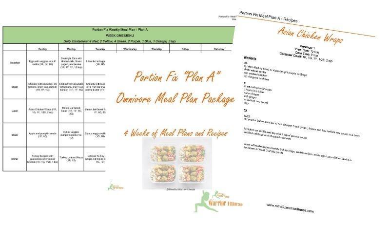 Portion FIx Meal Plan