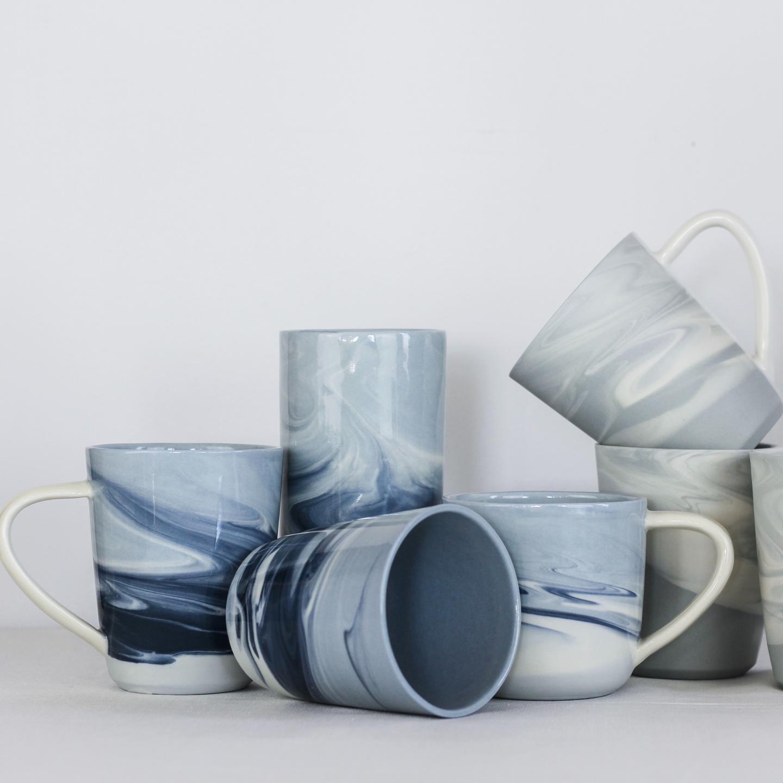 Marbled Pottery Jenny Rijke