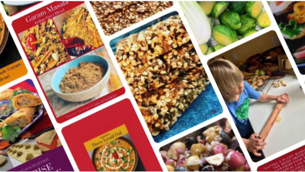 Plant based recipes collage of images