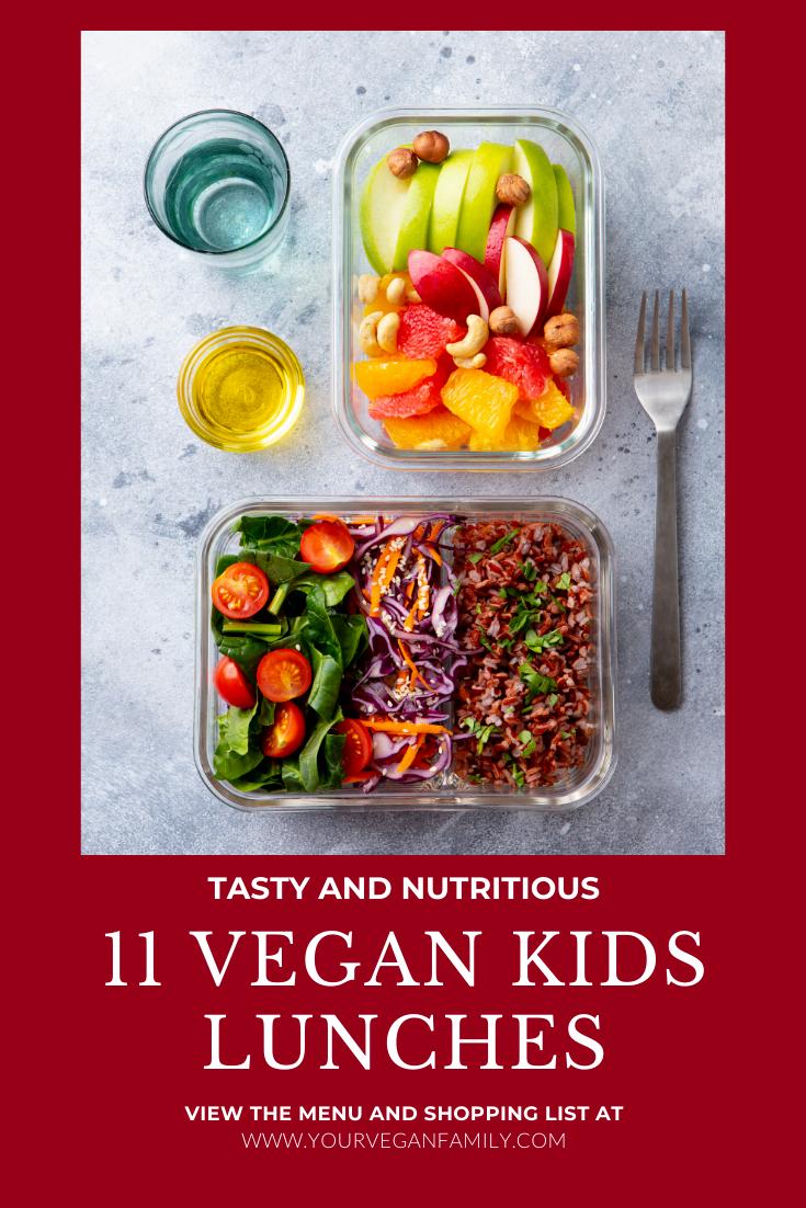 vegan kids lunch ideas