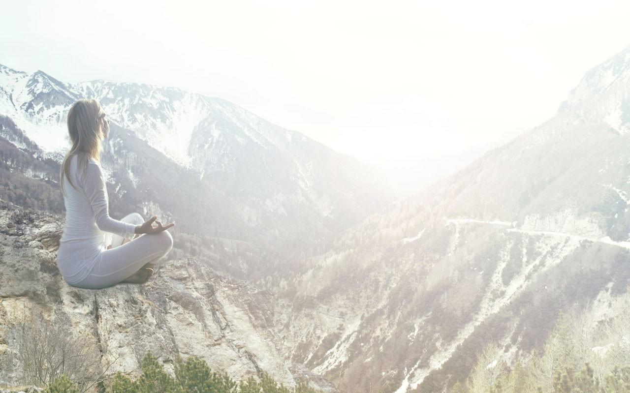 Himalayan Mountains yoga meditation initiate