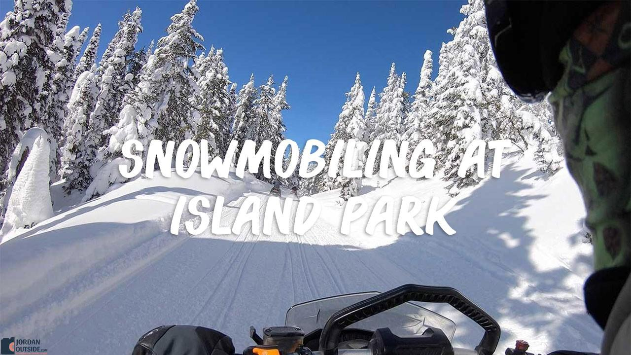 Snowmobiling at Island Park