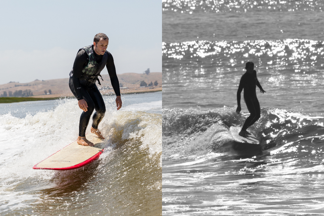 surf technique training boat wave longboard