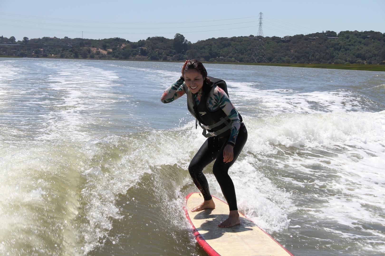 surf technique training face of joy fixing hair